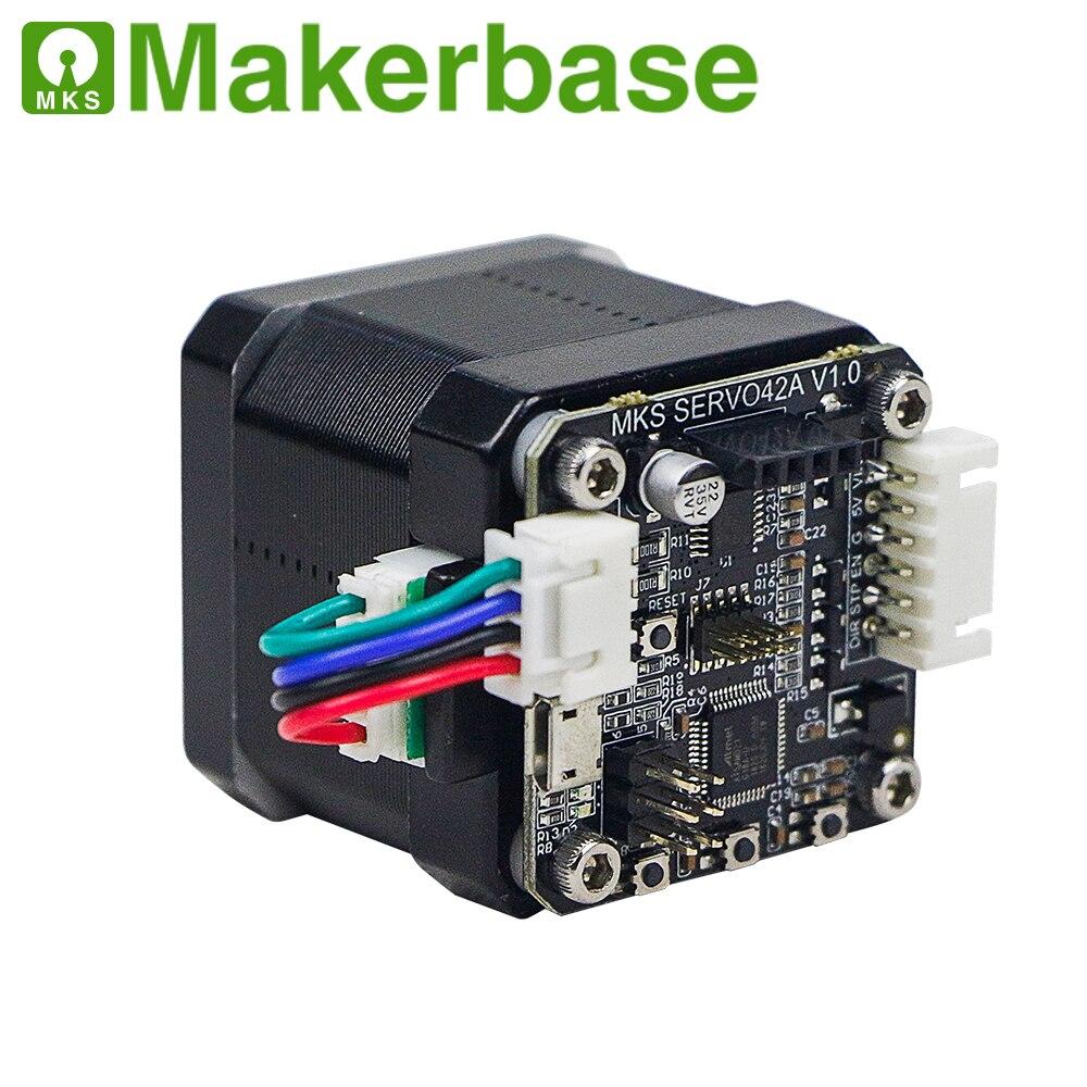 Motor paso a paso de circuito cerrado MKS de 12/24V, módulo de 42 motores NEMA17 SERVO42 de 0,96 pulgadas OLED 12864LCD de Makerbase para piezas de impresora 3d