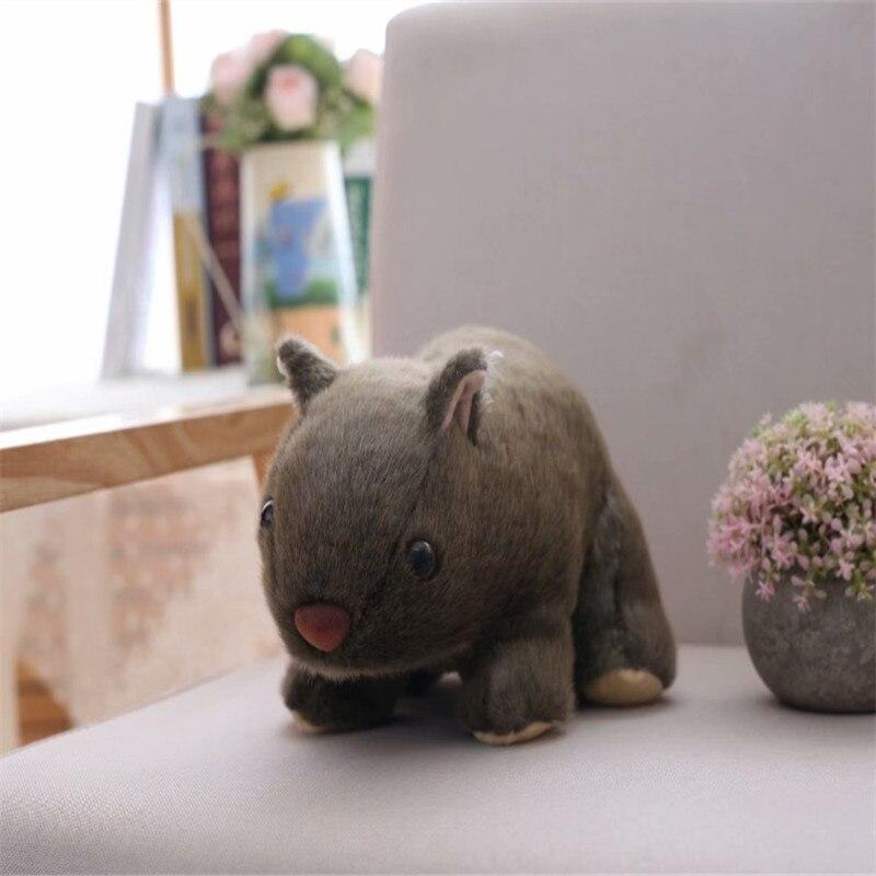 1 unidad de peluche de imitación de 18cm, Wombat, conejillo de indias, Cavia Porcellus, juguete de peluche de Animal salvaje, juguetes bebés niños, regalo, tienda de decoración de casa