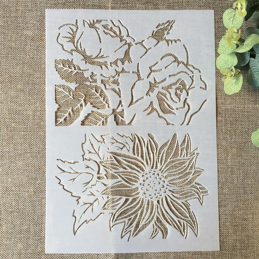 29*21cm Big Rose Flower DIY Layering Stencils Wall Painting Scrapbook Coloring Embossing Album Decorative Paper Card Template
