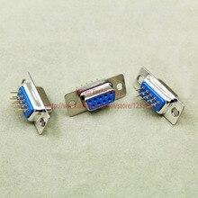 500 pièces RS232 parallèle Port série DP9 DB9 9 broches D Sub femelle PCB Type connecteur DB9 prise adaptateur COM