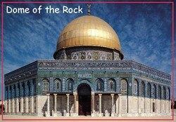 Retângulo ímãs rígidos 78*54mm cúpula da rocha foto geladeira ímãs 20154 jerusalém turista memorabilia presente