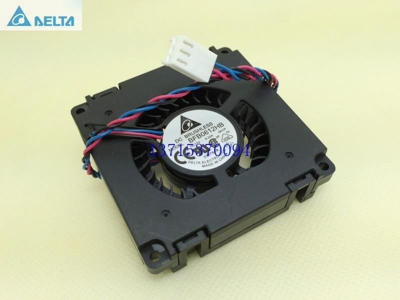 Delta 6015 6cm fan BFB0612HB 12V 0.32A refrigerador centrífugo ventilador de 3 hilos
