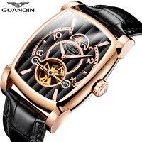 GUANQIN 2020 Watch Men Tourbillon Automatic Square waterproof business Clock Brand Luxury Mechanical Watches Relogio Masculino