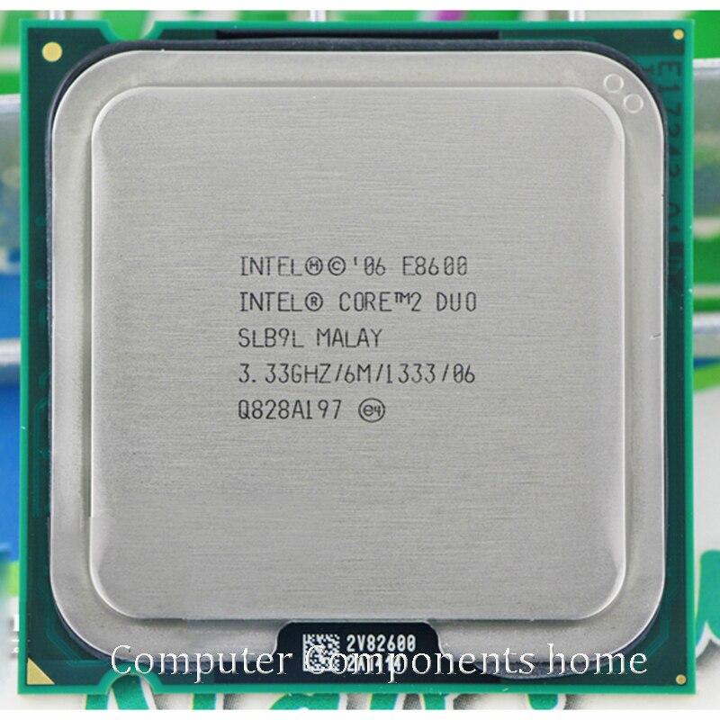 Original intel core 2 duo E8600 Socket LGA 775 procesador CPU (3,33 Ghz/6 M/1333 GHz) adecuado con G31 G41 placa base