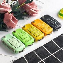 KEYYOU Car Key Shell 3 Button Flip Remote Car Key Cover Case For Volkswagen VW Jetta Golf 7 Passat b5 b6 Beetle Polo Bora t5