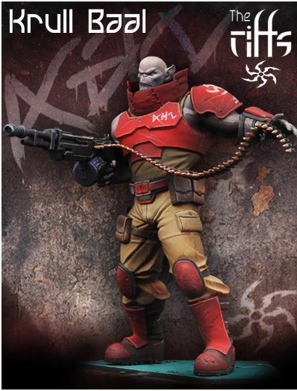 Kit sin pintar, 1/24, 75mm, Frontier Krull Baal Knight soldier, 75mm, kit de figuras en miniatura de resina de Modelismo