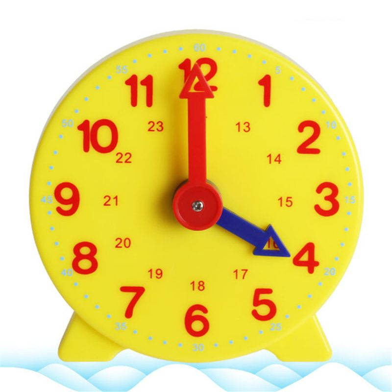 OOTDTY, reloj de aprendizaje para estudiantes Montessori, reloj de engranaje de tiempo para profesores, 4 pulgadas, 12/24 horas