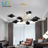 Modern Nordic chandelier simple living/study room bedroom restaurant cafe bar light AC110-240V creative led pendant lamp Fixture