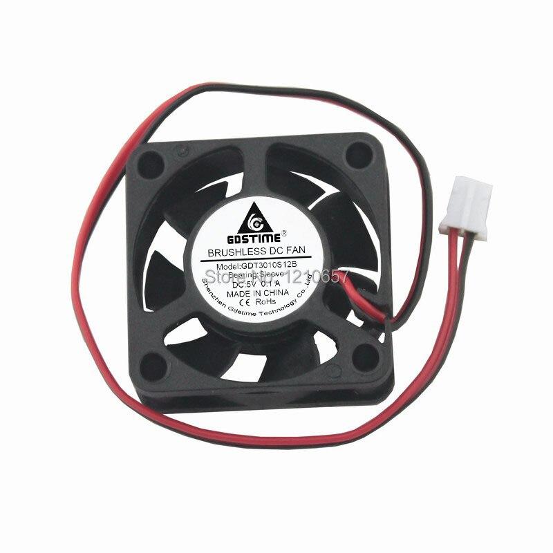 200 Uds. Lote Gdstime 2Pin 30x30x10 MM 30MM 5V enfriador de refrigeración por extensión de calor VENTILADOR DE CC