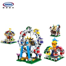XINGBAO 1106 City Amusement Park Series World Ferris Wheel Set Building Blocks MOC Bricks Kids Toys Compatible With LepinING