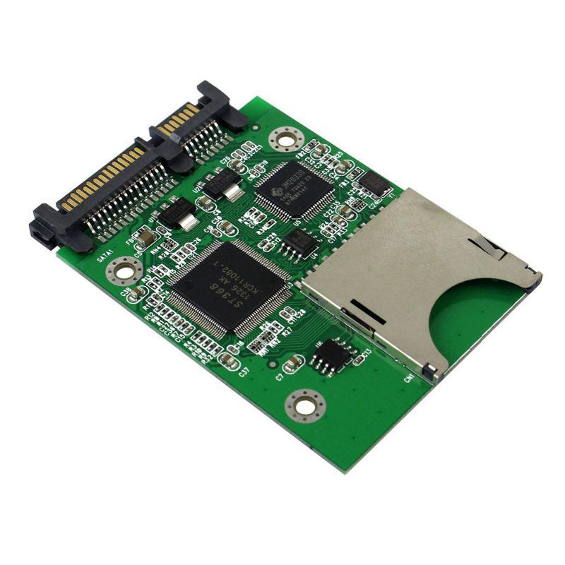 Sd Sdhc Mmc карта памяти на Sata 22Pin Ssd Hdd жесткий диск Sd карта на Sata адаптер