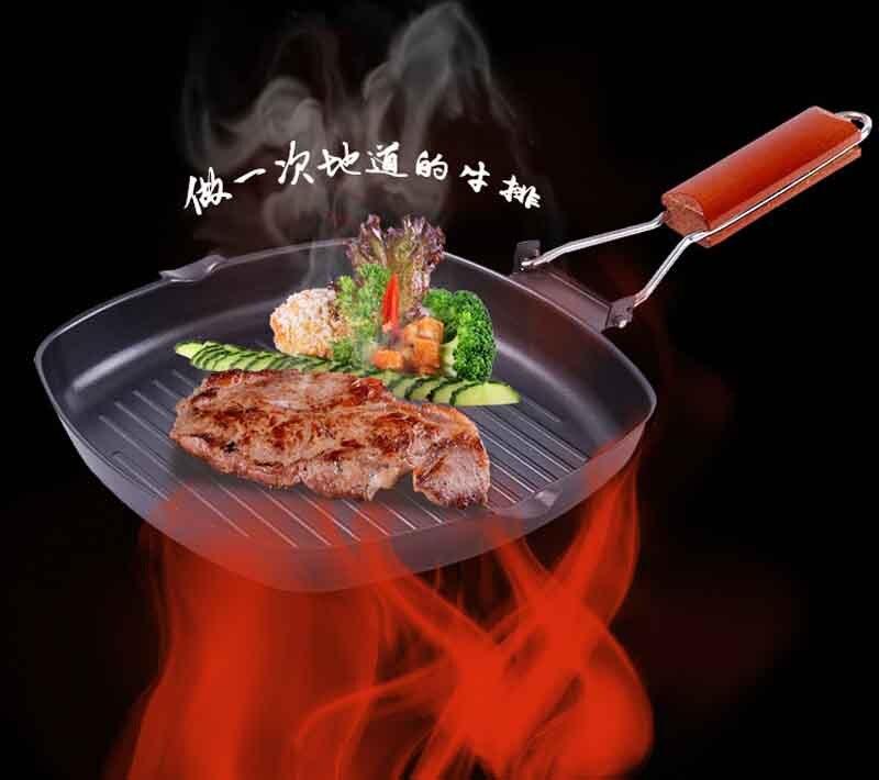 Plancha utensilios de cocina olla de fundición gruesa sartén comal antiadherente Wok...