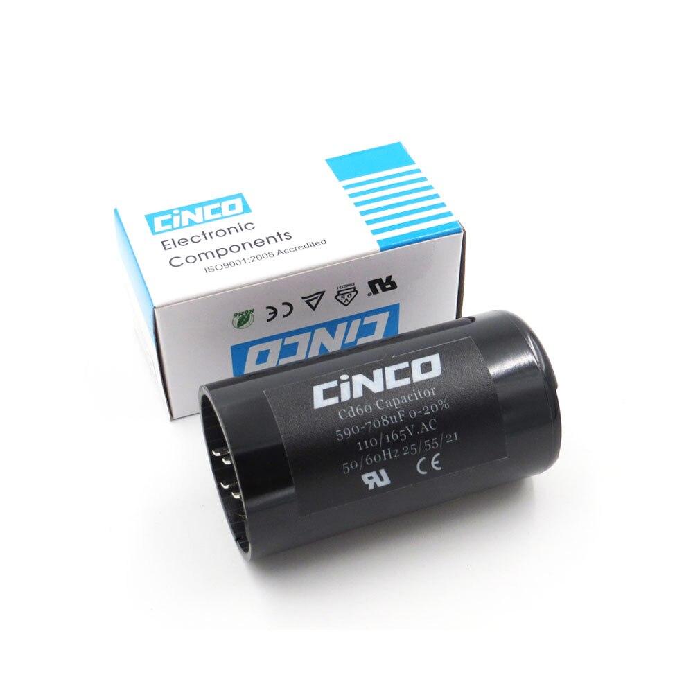 Condensadores de arranque de Motor 590-708MF 110V 125V 165V CD60 Motor eléctrico 590 708 Mfd uF electrolítico mf 110VAC 125VAC