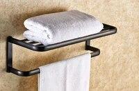 wall mounted black oil rubbed antique brass bathroom large towel rail towel bar holder shelf bathroom accessory mba199