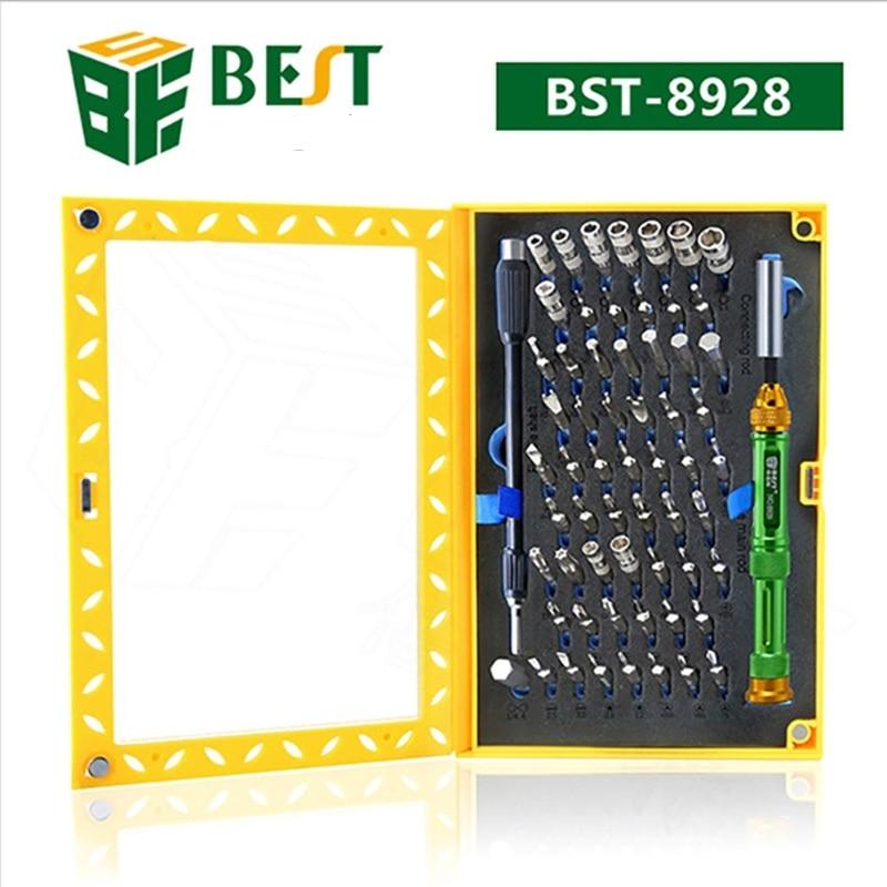 63 En 1 destornillador de precisión multifunción conjunto de herramientas de reparación BST juego de destornillador magnético para iPhone Mac portátil móvil