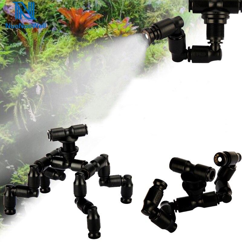 NuoNuoWell рептилии Fogger Туман разбрызгиватель тропический лес бак 360 Регулируемая аквариумная система охлаждения для водных питомцев подключен...