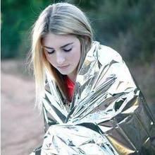 Premiers soins couverture durgence survie sauvetage rideau en plein air sauvetage tente réutilisable feuille Camping sac de couchage 130*210cm
