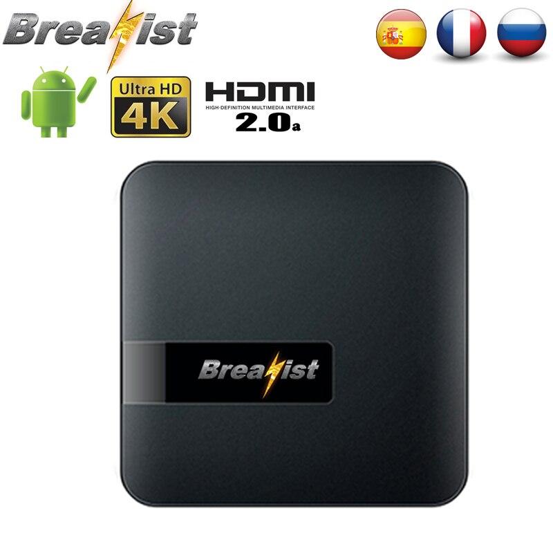 Breakist M18 Amlogic S905W Quad-Core 1gb ram 8gb rom android 7,1 Dispositivo de tv inteligente Ultra HD 4K HDMI 2,4G WiFi youtube reproductor de medios