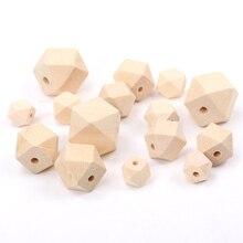 10mm 12mm 14mm 16mm naturel à facettes en bois non fini géométrique perles despacement pour la fabrication de bijoux Handmake accessoires à créer soi-même MT0212/12