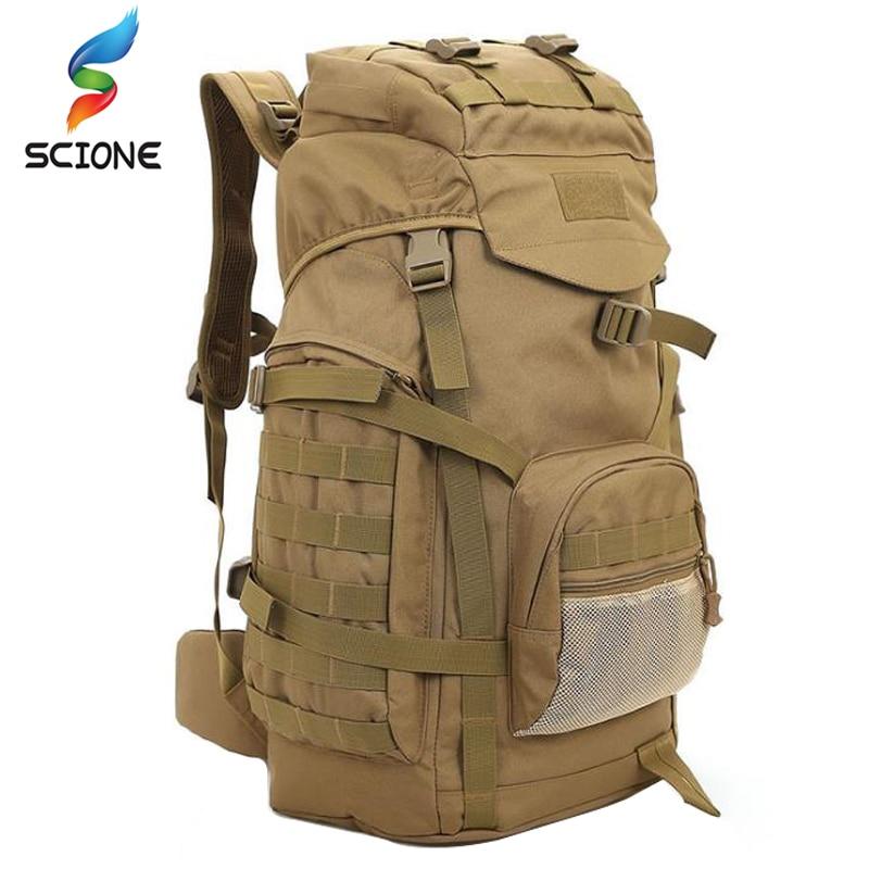 60l ao ar livre tático mochilas saco militar dos homens montanhismo grande mochila militar tático do exército esporte caminhadas saco
