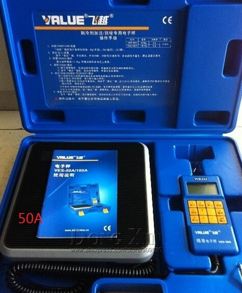 Refrigerate charging scale VES-50A electronic balance Precision Electronics Balance for refrigeration DHL free shipping free shipping hs 1222 r22 refrigeration charging adapter retention control valve