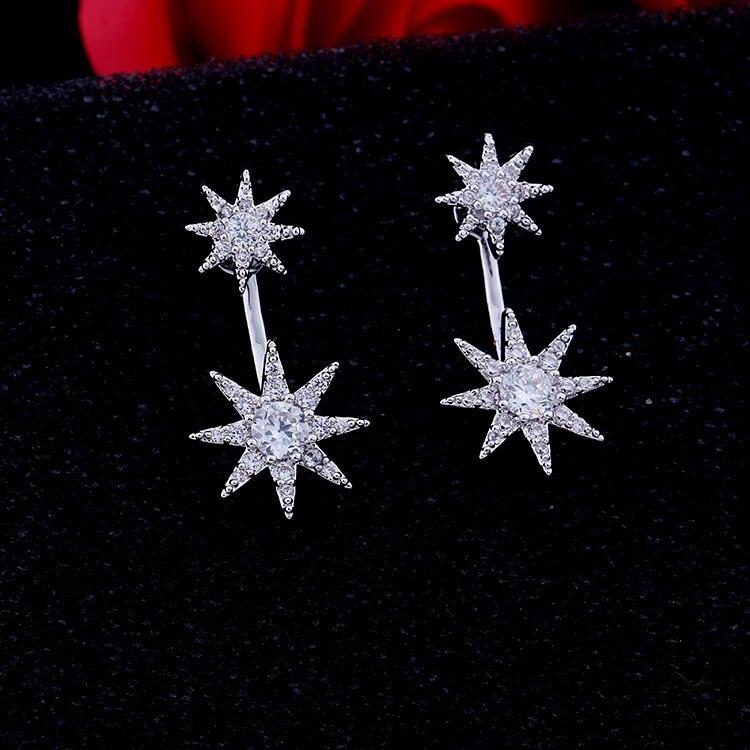 Gwiazda kolczyk kryształ z Swarovskis ograniczone w czasie roślin 2020 nowa sprzedaż hurtowa europejska biżuteria sprzedaży Angel Wings