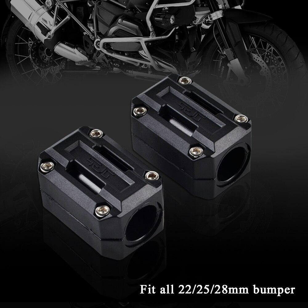 Motosiklet 22mm 25mm 28mm Motor Koruma Guard Tampon Dekor Bloğu Honda Afrika e N e n e n e n e n e n e n e n e n e CRF1000L NC700X VFR1200X crosstourer