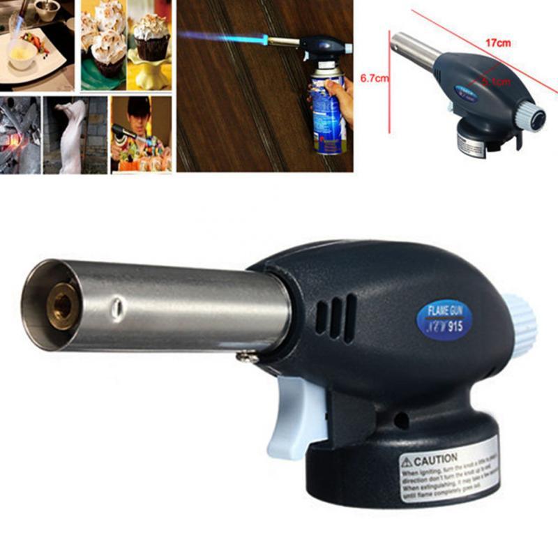 Hot Sale BBQ Blowtorch Cooking Soldering Butane Gas Torch Flame Gun Auto Ignition Blow Jet Burner Lighter Welding