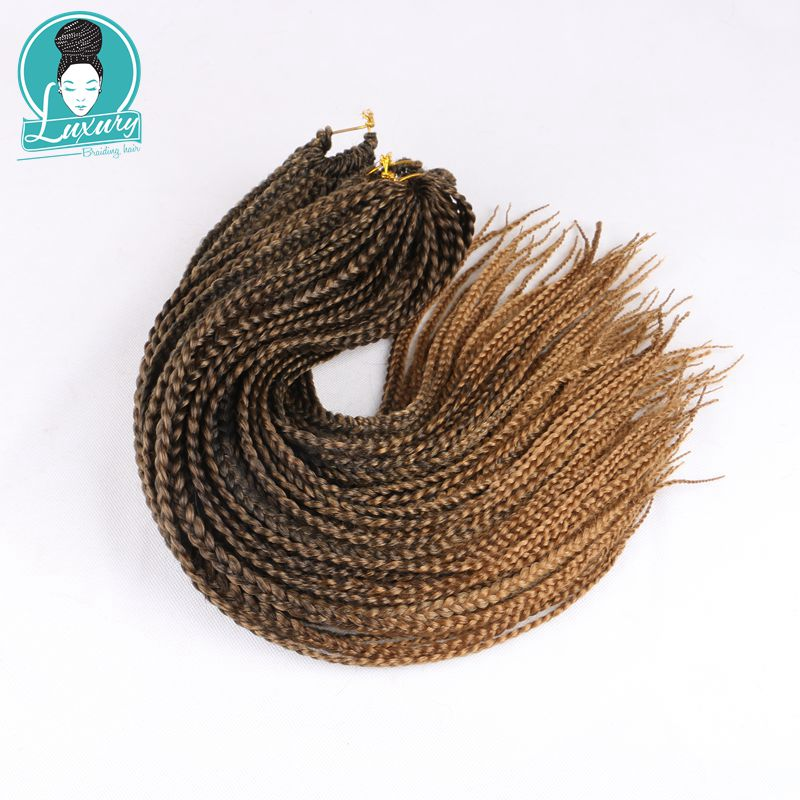 Роскошные синтетические косички для плетения крючком, 24 дюйма, 22 пряди/упаковка, Омбре, серые, коричневые, светлые, предварительно заплетенн...