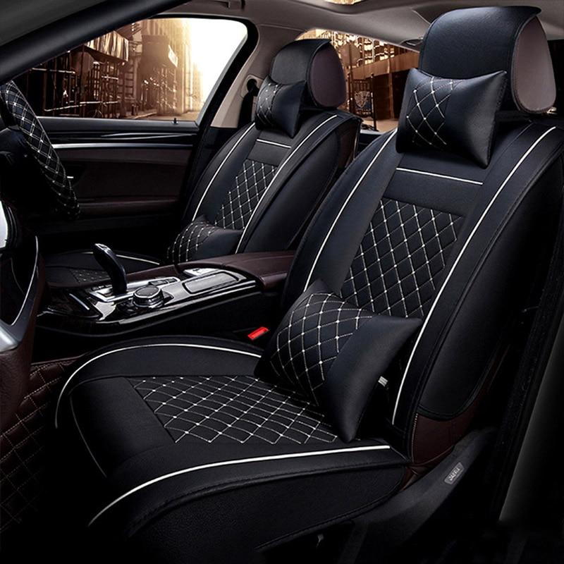 Housses en cuir synthétique pour siège de Toyota   Siège universel en polyuréthane pour Toyota Corolla Camry Rav4 Auris Prius Yalis Avensis SUV, accessoires de voiture, bâtons de voiture