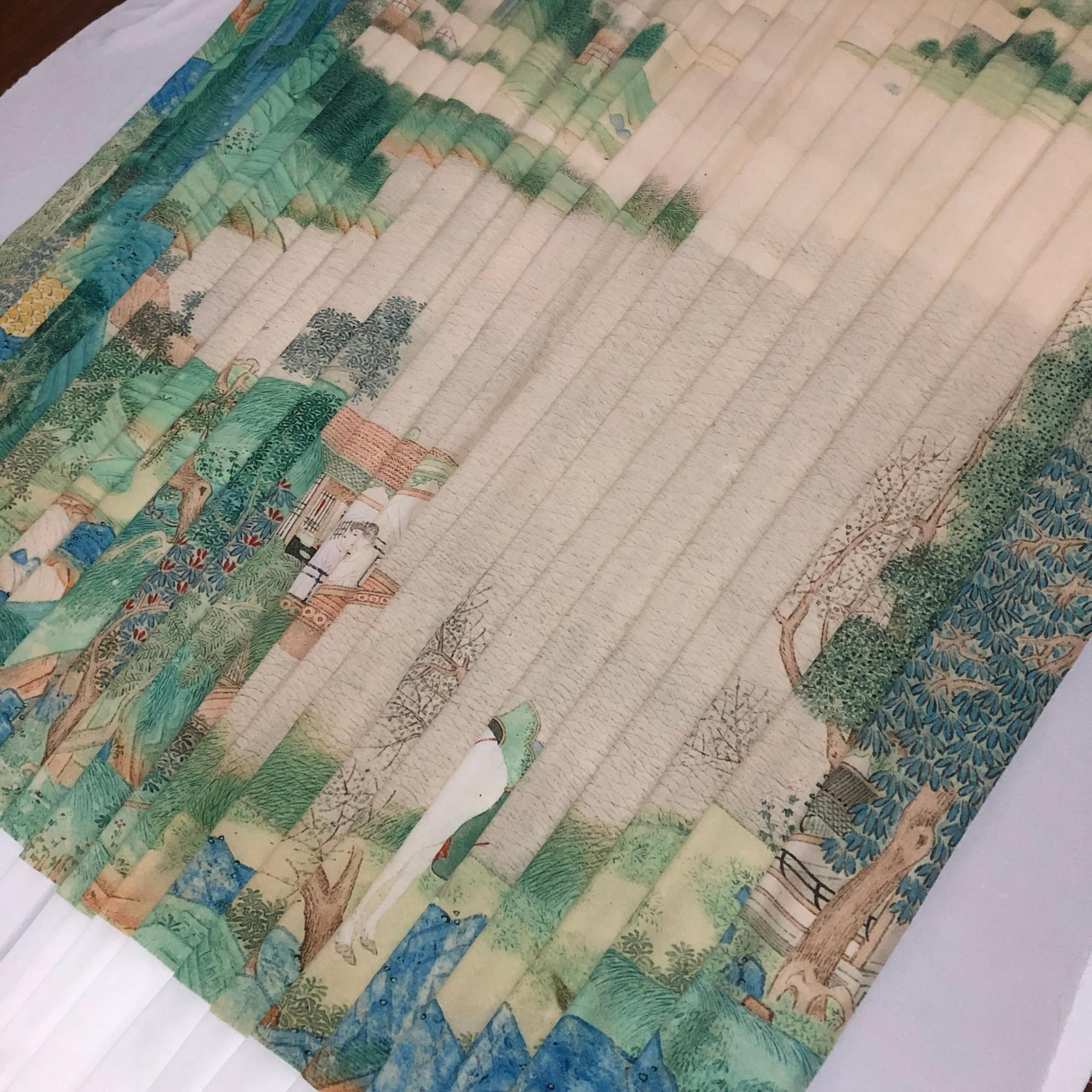 Chino clásico Xunyang Farewell pintura tela lisa impermeable chino Han tela clásica para traje de cortina