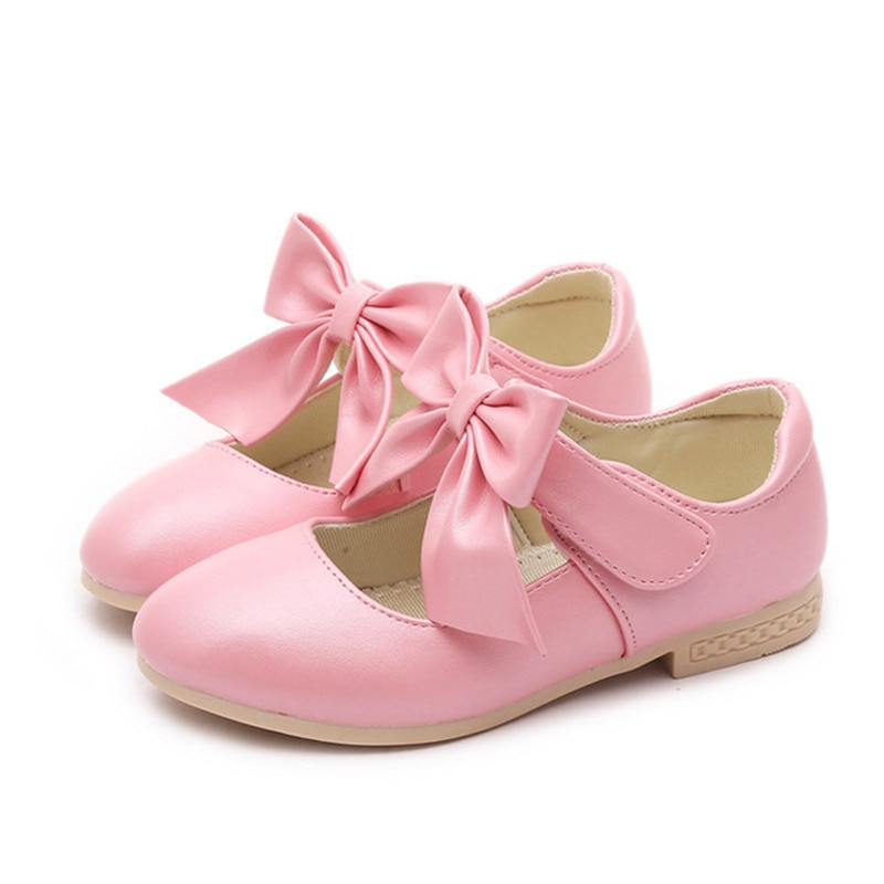 NEW Spring Autumn baby girls shoes bowknot soft-soled baby shoes girls Kids leather shoes 9.5 10 11 11.5 12.5 13.5 1 2 3 3.5 4