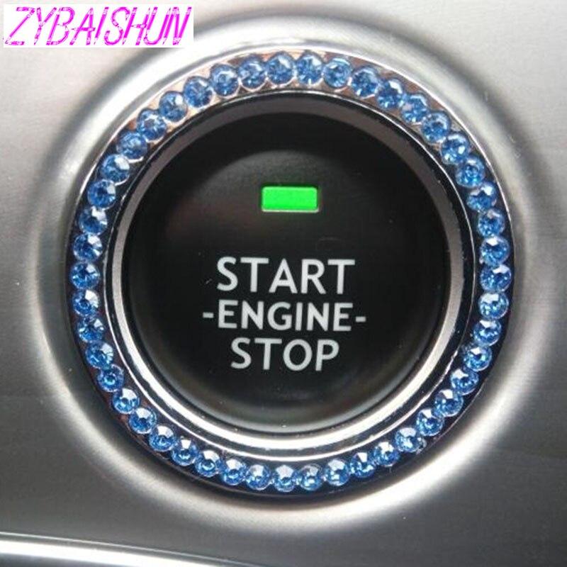 ZYBAISHUN interruptor de encendido coche anillo de decoración pegatinas para Dodge Journey JUVC/cargador/DURANGO/CBLIBER/SXT de dardos/Jeep Grand