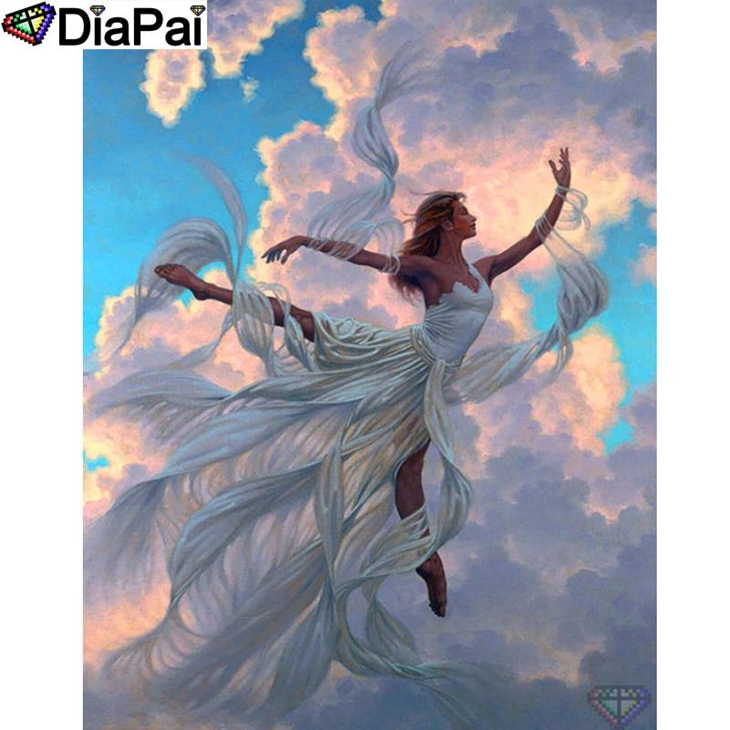 """DIAPAI 100% Total Square/Rodada Broca 5D DIY Pintura Diamante """"Dança beleza"""" Diamante Bordado Ponto Cruz 3D decor A20222"""