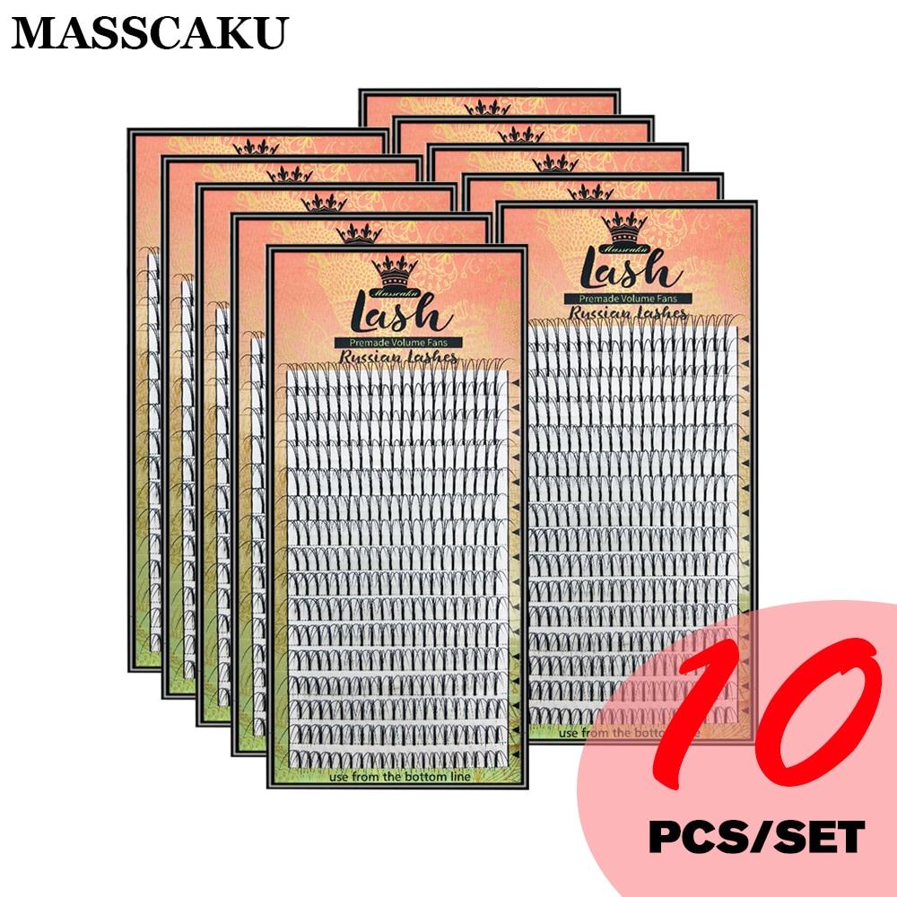 Premade volumen Fans Lash ruso volumen profesional de pestañas extensiones de C & D Curl extensión de pestañas de visón MAS 3D/4D/5D/6D