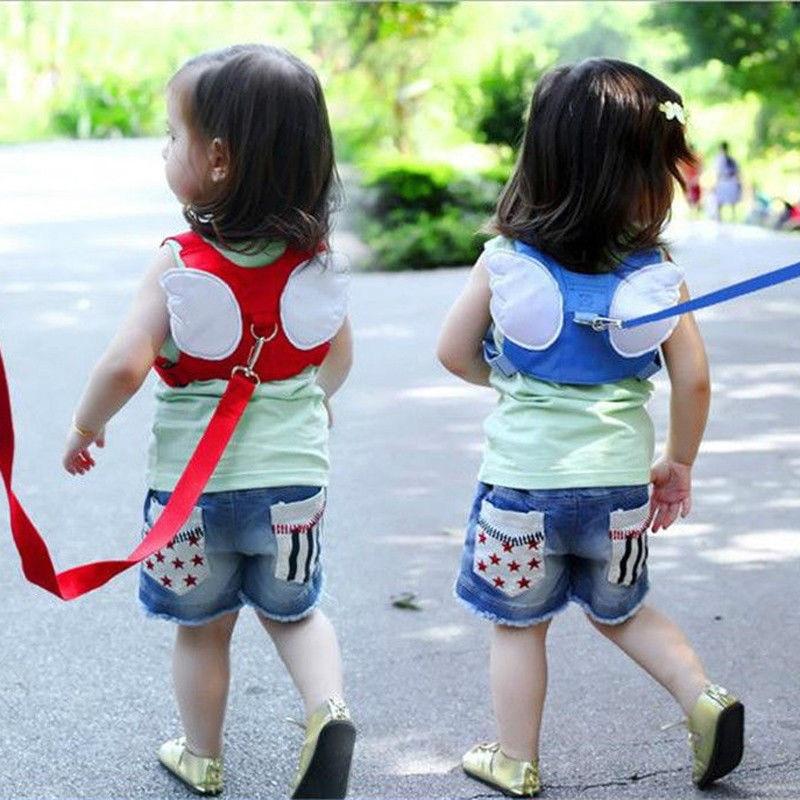 Seguridad arnés Correa niño caminar cuerda Anti-Pérdida tracción cuerda bebé arnés correas rojo azul