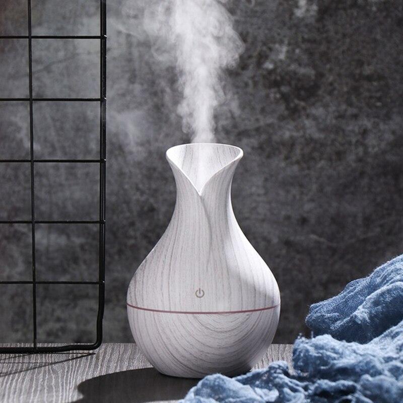 Usb aroma difusor de óleo grão branca elétrica umidificador ar ultra sônico aromaterapia ledlight névoa maker para casa