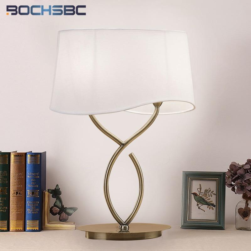 Lámpara de mesa nórdica moderna BOCHSBC, lámparas de Luminaria para comedor, mesita de noche, dormitorio, estudio