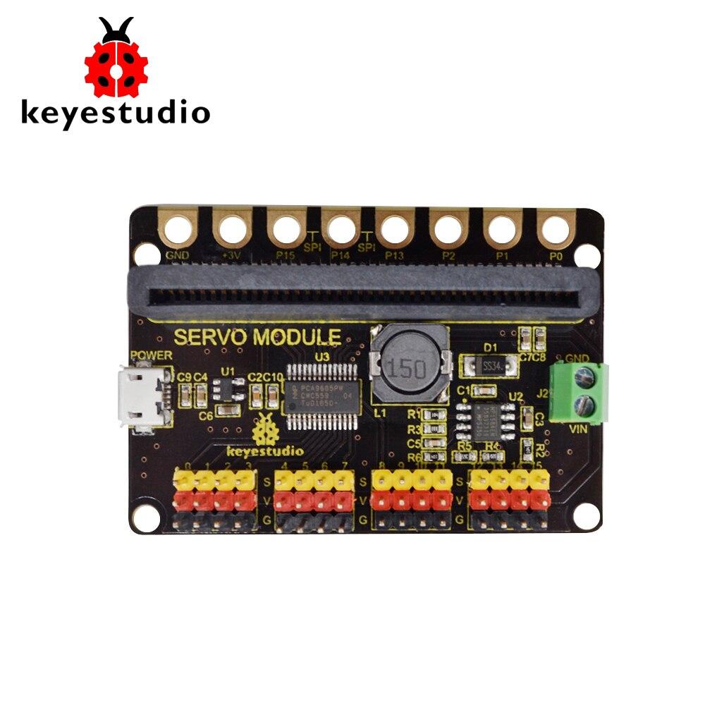Keyesstudio 16 canales PCA9685PW servoescudo para Micro: bit