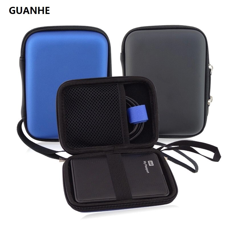 GUANHE تحمل حالة غطاء الحقيبة ل 2.5 بوصة قوة البنك USB الخارجية WD HDD القرص الصلب حماية حامي حقيبة الضميمة حالة