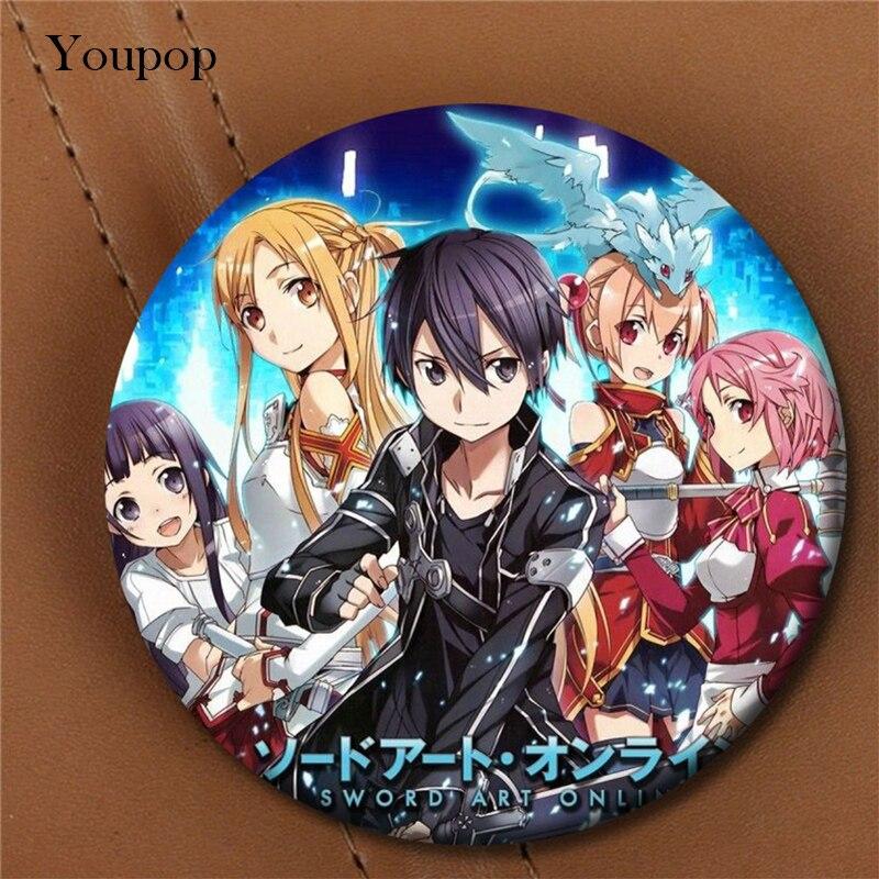 Youpop Sword Art Online Anime Album Brooch Pin Badge Accessories For Clothes Hat Backpack Decoration Men Women Boy Girl XZ0508