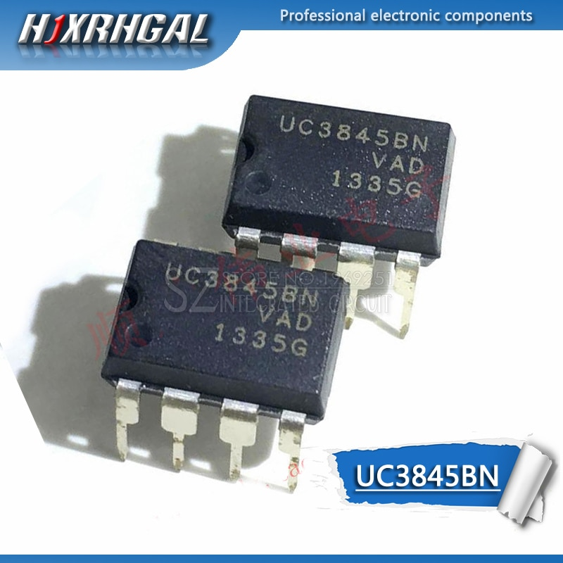 10 Uds UC3845B DIP-8 UC3845A DIP8 UC3845AN UC3845BN UC3845 DIP nuevo y original IC HJXRHGAL