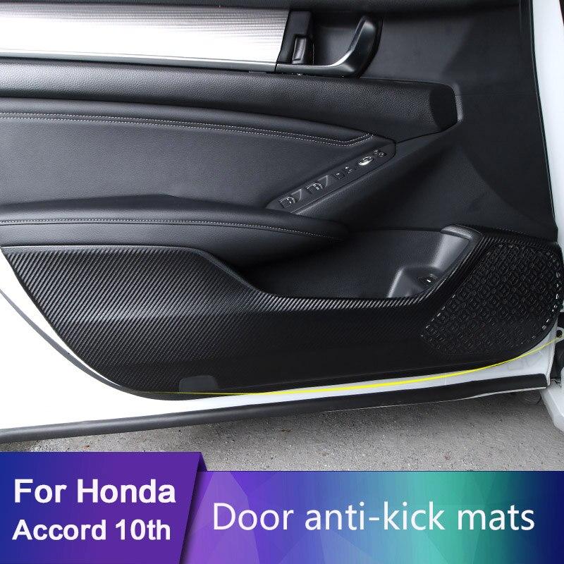 Para Honda Accord 10 ° 2018 2019 2020 estilo de coche 4 unids/set borde lateral Anti-kick Mat cubierta protectora Pad Auto Accesorios