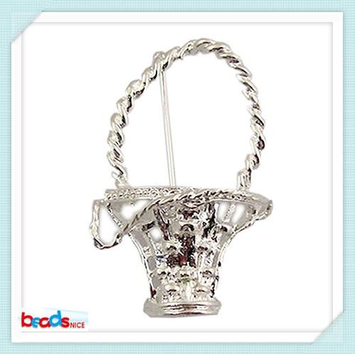 Beadsnice ID24255 in stock item vintage brooch flower basket fashion brooch gold/silver jewelry wholesale