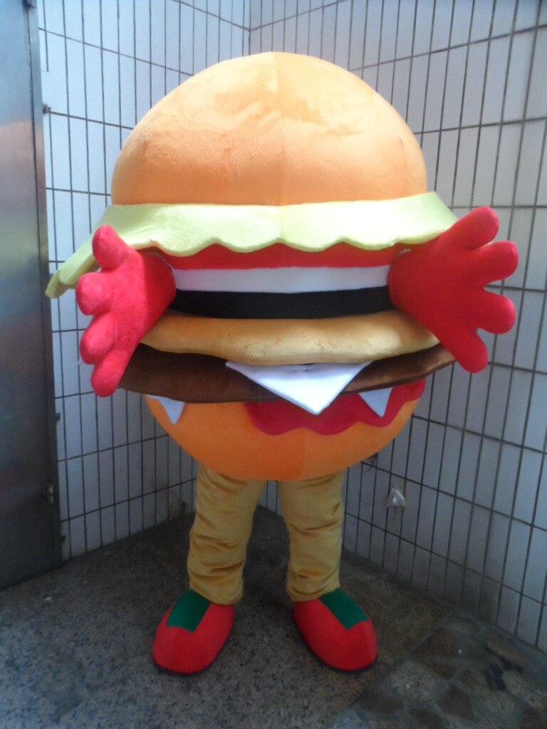 Disfraz de mascota hamburguesa disfraz personalizado kits de cosplay mascota de dibujos animados disfraz de Carnaval disfraz de fantasía