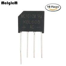 MCIGICM 10 pièces 6A 800 V diode pont redresseur kbl608