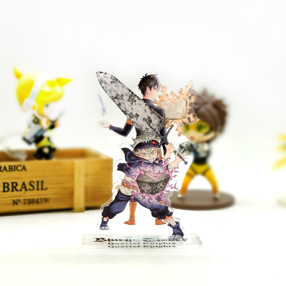 Love Thank You trébol negro Asta Yuno figura acrílica con soporte modelo placa soporte torta topper anime salto