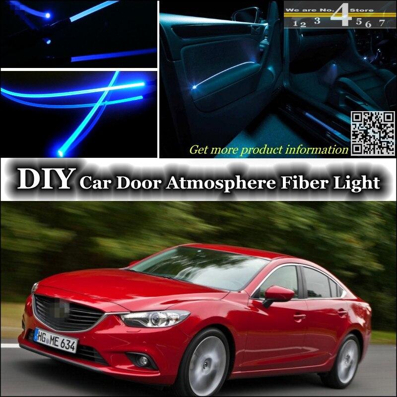 interior Ambient Light Tuning Atmosphere Fiber Optic Band Lights For Mazda 6 Mazda6 M6 MPS Atenza Inside Door Panel illumination