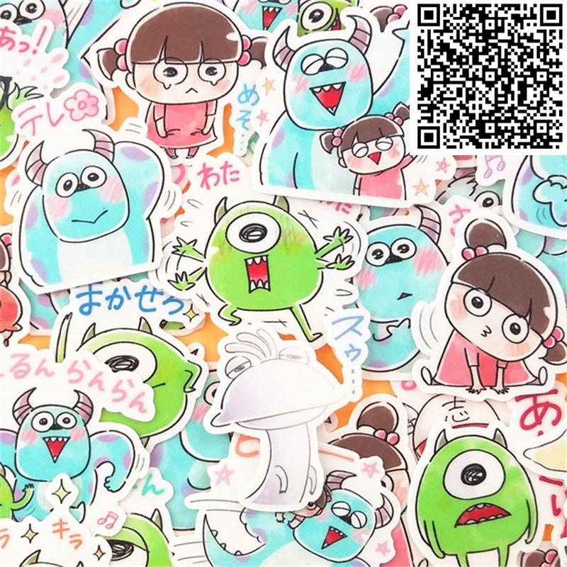 40 sztuk ręcznie rysowane małe potwory i dziewczyny naklejki na deskorolce bagaż telefon stylizacja do domu zabawkowa kreskówka naklejki wodoodporne