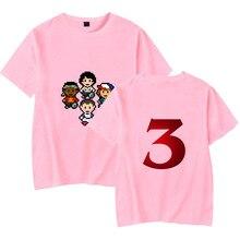 100% algodón para hombre Camisetas verano 2019 POP Stranger Things 3 camiseta Eleven Mike dust Demogorgon manga corta Hip Hop camiseta